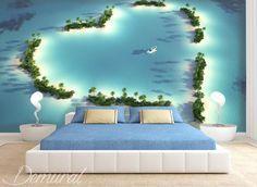 pelzstola vom atoll fototapete fur schlafzimmer fototapeten demural