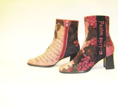 Hand Painted Boots Suede Chadwicks Women's by TheWoodsSecretGarden, $229.00
