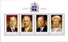 Sello: Presidents (Islandia) (People) Mi:IS BL16,Sn:IS 788,AFA:IS 798
