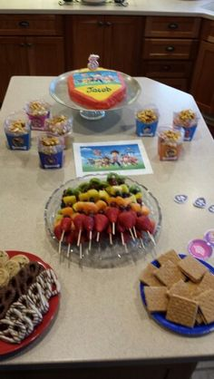 Colorful paw patrol birthday party