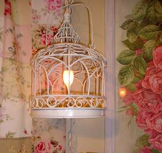 Darling Petite Bird Cage Chandelier Lamp Chic not Shabby