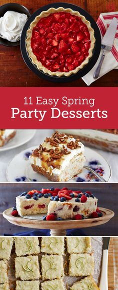 Say goodbye to the winter blues and welcome spring with these desserts. From poke cakes to pies, these recipes are fresh and flavorful and feature some of our favorite springtime flavors that we've been craving all winter long.