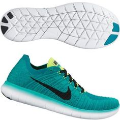 nike free RN flyknit mens running trainers 831069 sneakers shoes (US 9, Verde (Clear Jade / Black-Volt-Rio Teal)