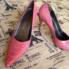 "Spotted while shopping on Poshmark: ""ANTONIO MELANI DK PINK CROC HEELS SIZE 8.5""! #poshmark #fashion #shopping #style #ANTONIO MELANI #Shoes"