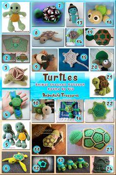Turtles - Animal Crochet Pattern Round Up via @beckastreasures