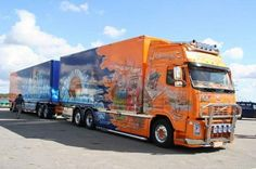 custom volvo and trailer