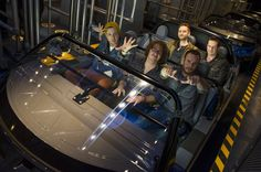 "In this handout photo provided by Disney Parks, (L-R: Front Row) Ryan Tedder, Drew Brown and Eddie Fisher (L-R: Back Row) Brent Kutzle and Zach Filkins of OneRepublic take a ride during the grand opening of ""Test Track Presented by Chevrolet"" at Epcot on December 06, 2012 in Lake Buena Vista, Florida."