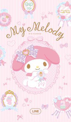 My Melody: Rosette Mickey Mouse Wallpaper, Sanrio Wallpaper, Anime Wallpaper Phone, Lines Wallpaper, Hello Kitty Wallpaper, Kawaii Wallpaper, Cartoon Wallpaper, Hello Kitty Art, Hello Kitty Themes