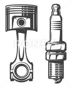 Piston and spark plug Stock Illustration , Car Tattoos, Biker Tattoos, Body Art Tattoos, Tattoo Pai E Mae, Motocross Tattoo, Harley Tattoos, Engine Tattoo, Drafting Drawing, Yamaha Cafe Racer