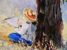 'The Meadow Sketch' by Gleb Goloubetski Oil on Canvas 80cm x 65cm