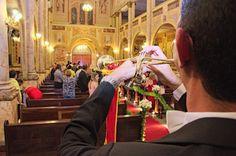 Trombeta tocando na entrada da noiva