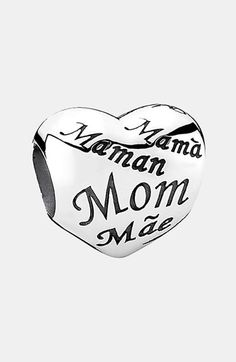 PANDORA 'Moments - Mother's Heart' Charm | Nordstrom