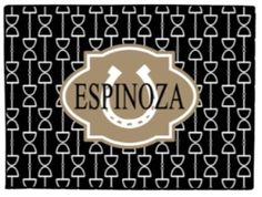 Personalized Horsebit Doormat Monogrammed by PinkWasabiInk on Etsy
