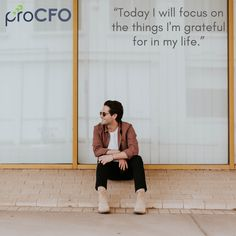 Want to know the secret towards a successful business? Get updated information about your business standing with experienced outsourced CFO. Thankful Thursday, Im Grateful, Business Advisor, Motivationalquotes, Quote Of The Day, My Life