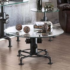 Shop for Furniture of America Haymill Industrial Glass Antique Black Coffee Table. Get free shipping at Overstock.com - Your Online Furniture Outlet Store! Get 5% in rewards with Club O!