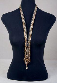 Adjustable Handmade Necklace with AB Swarovski Crystal