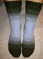 Ravelry: There & Back Again Socks pattern by Dawn Hansen