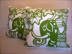 Set of Two Toss Pillows Throw Pillows Indian by CityandSeaVintage, $34.00
