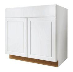 "Value Choice 33"" Ontario White Standard 2-Door Sink Base Cabinet at Menards"