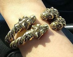 Leather Silver Wolves Bracelet or Cord 2 in 1. Bear by RuyaN