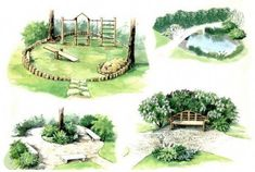 Landscape Gardening Ideas Images… Landscape Gardening Ideas Images Get more photo about subject related with by looking at photos gallery - Landscape Sketch, Landscape Plans, Landscape Drawings, Architecture Concept Drawings, Landscape Architecture Design, Garden Design Plans, Low Maintenance Landscaping, Front Yard Landscaping, Landscaping Ideas