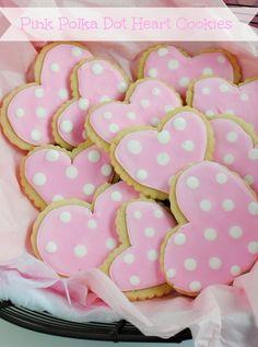 Pink polka dot cookies...