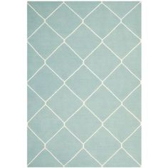 Safavieh Dhurries Light Blue/Ivory 6 ft. x 9 ft. Area Rug - DHU635C-6 at The Home Depot