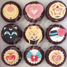 Sailor Moon cupcake toppers