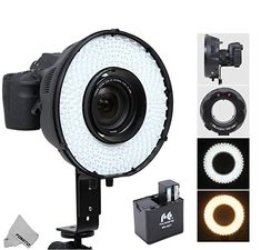 Fomito Portable LED Macro Ring Flash Light for Canon Nikon Sony Pentax DSLR Cameras + Replacement Battery Box Adapter for Sony AA Batteries Gopro, Flashes In Eye, Sony, Canon, Blitz, Led, Camera Photography, Flash Light, Dslr Cameras