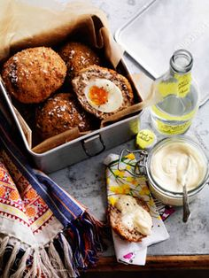 Scotch eggs - if, like me, you are not a fan of deep frying, scotch eggs can be baked in the oven at 200 deg c for about half an hour, turning them over half way through the cooking time