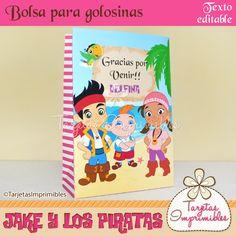 Bolsa para golosinas Jake y los piratas rosa