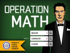 Operation Math™ ($1.99) 105 Missions based on 3 different skill levels.  • All binomial addition/subtraction equations for #s 1-20  • All binomial multiplication/division equations for numbers 1-12  • Ability to select missions based on skill level and operatives (+, -, +/-, x, ÷, x/÷ and +/-/x/÷)  • Training that tracks consecutive answers and preps players for active missions  • 30 un-lockable watches and uniforms that encourage game play  • Quick reference addition & multiplication tables