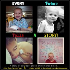 Every Pictures Tells a Story....Of Courage, Grace and a FIERCE Battle!  Childhood cancer sucks. Join our fight to kick it where it counts!