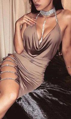 For Women club outfits – Wardrobe Land Sexy Dresses, Cute Dresses, Beautiful Dresses, Fashion Dresses, Elegant Dresses, Midi Dresses, Classy Sexy Dress, Split Prom Dresses, Formal Dresses