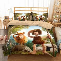 Customize Early Man Bedding Set Duvet Cover Set Bedroom Set Bedlinen Microfiber,Soft and Comfortable. Dyeing,Never Lose Color. Newest Design,Early Man,Fashion and Personality. Mens Bedding Sets, Luxury Bedding Sets, Bed Duvet Covers, Duvet Cover Sets, Cushion Covers, Creative Beds, Men's Bedding, Comforter, Environmental Print