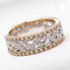 vintage eternity diamond rings gold - Google Search #DiamondWeddingRingsforWomen