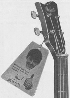 This was a promotion that hofner did to sell their guitars.  Paul got 5£ per bass sold.