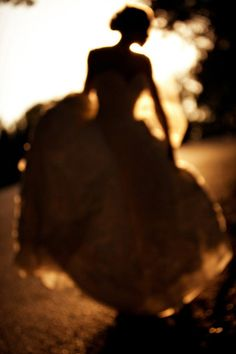 Bridal Portrait // Silhouette: by Dallas wedding photographer Kathryn Krueger Photography