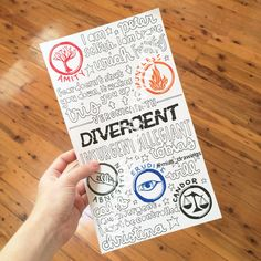 Divergent Veronica Roth collage by Miasdrawings on Etsy