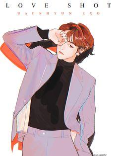 FanBook : Fan Art Social Platform I grouped the aforementioned questions in regards to the pencil drawing that I received … Baekhyun Fanart, Fanart Bts, Sehun, Exo Anime, Anime Guys, Anime Art, Kpop Exo, Chibi, Kai
