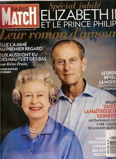 Reine Elizabeth et le Prince Philip Paris Match, Roman, Prince Philip, Queen Elizabeth Ii, British, Books, Magazine Covers, Magazines, February