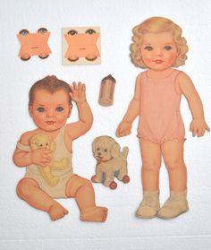 Cut Sleeping Dolls 1945 by Queen Holden