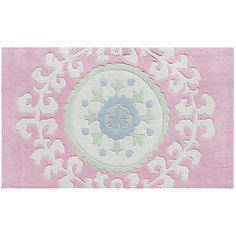 "The Rug Market Suzani Pink Kids Rug $372 for 4'7""x7'7"""