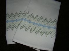Set of 2 Dish Towels embellished with Swedish Weaving