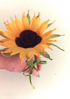 2 Sunflower wedding Guest Book Wedding Pen Guestbook by flower4you