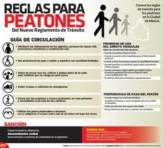 Conoce las reglas de tránsito para los peatones en la Ciudad de México. #Infographic