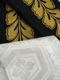 Gold-Silver-Black Hanhaba Obi Set / 金銀黒の踊り用化繊半幅帯 3本セット   【リサイクル着物・アンティーク着物・帯の専門店 あい山本屋】#Kimono #Japan