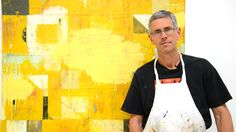 Nick Wilton explains using a sander on his paintings.