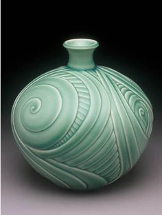 carved pottery leaves - Google Search