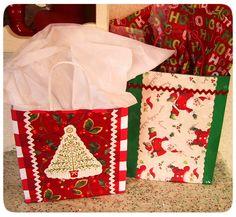 Happy as a Lark: Repurposed Christmas Gift Bags